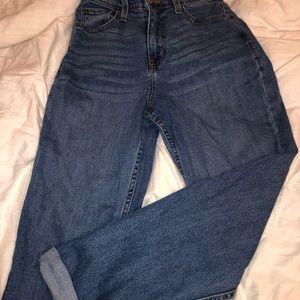 Fashion nova blue mom jeans